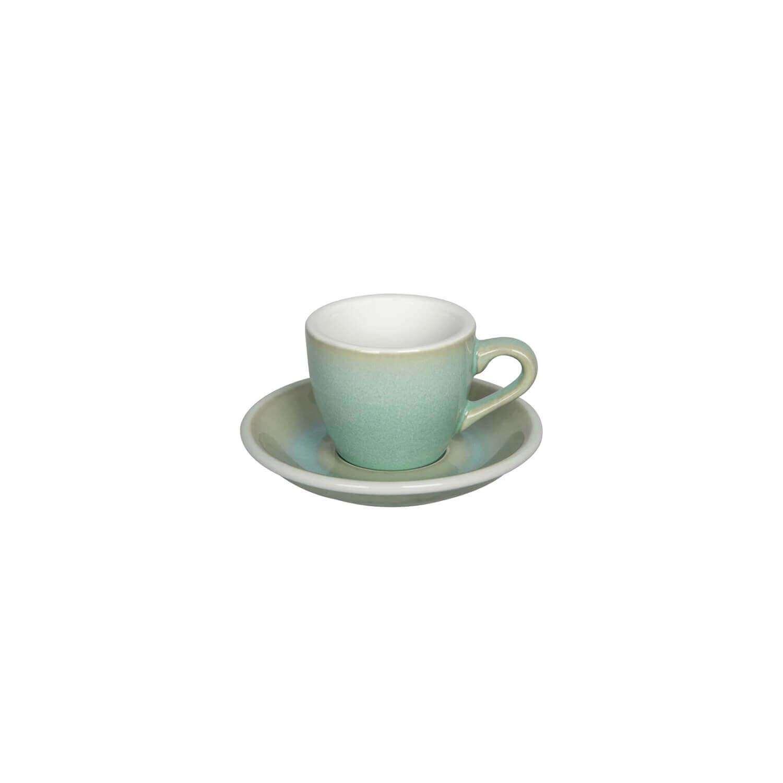 Egg - Espresso Kop- &Amp; Schotelset - Basil