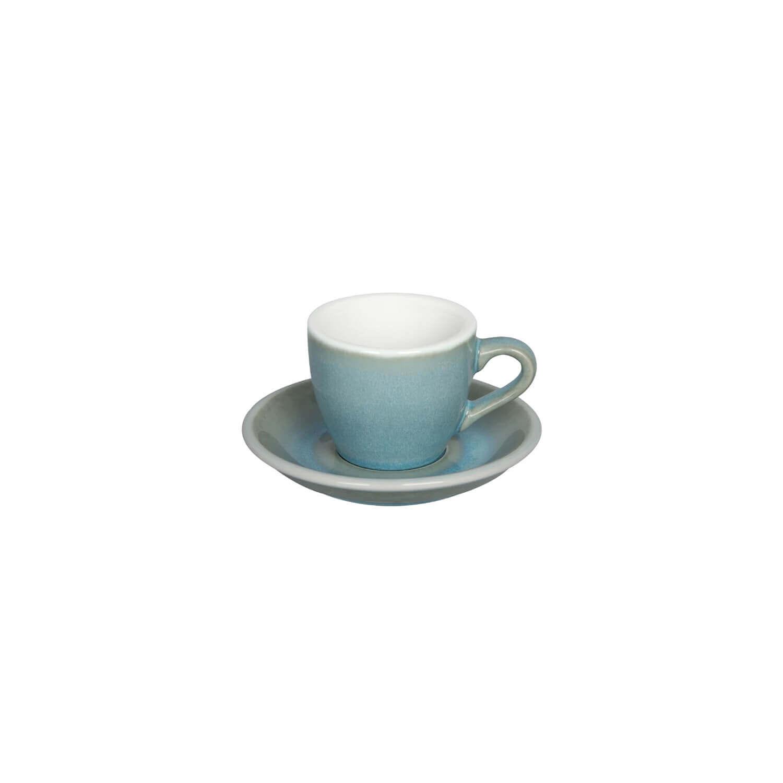 Egg - Espresso Kop- &Amp; Schotelset - Ice Blue