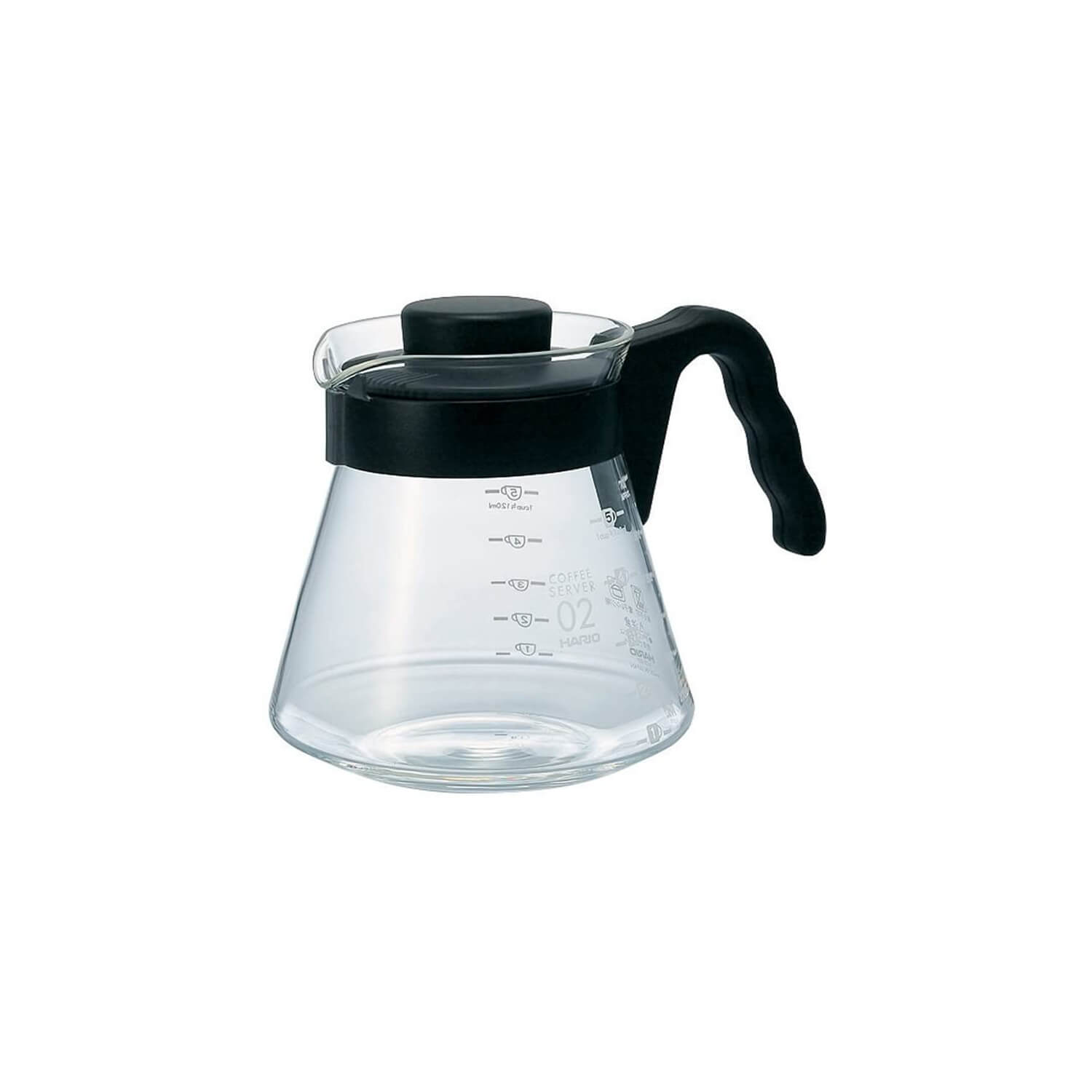Hario - V60 Range Server - 02 - Clear - Black Handle - 700 ml