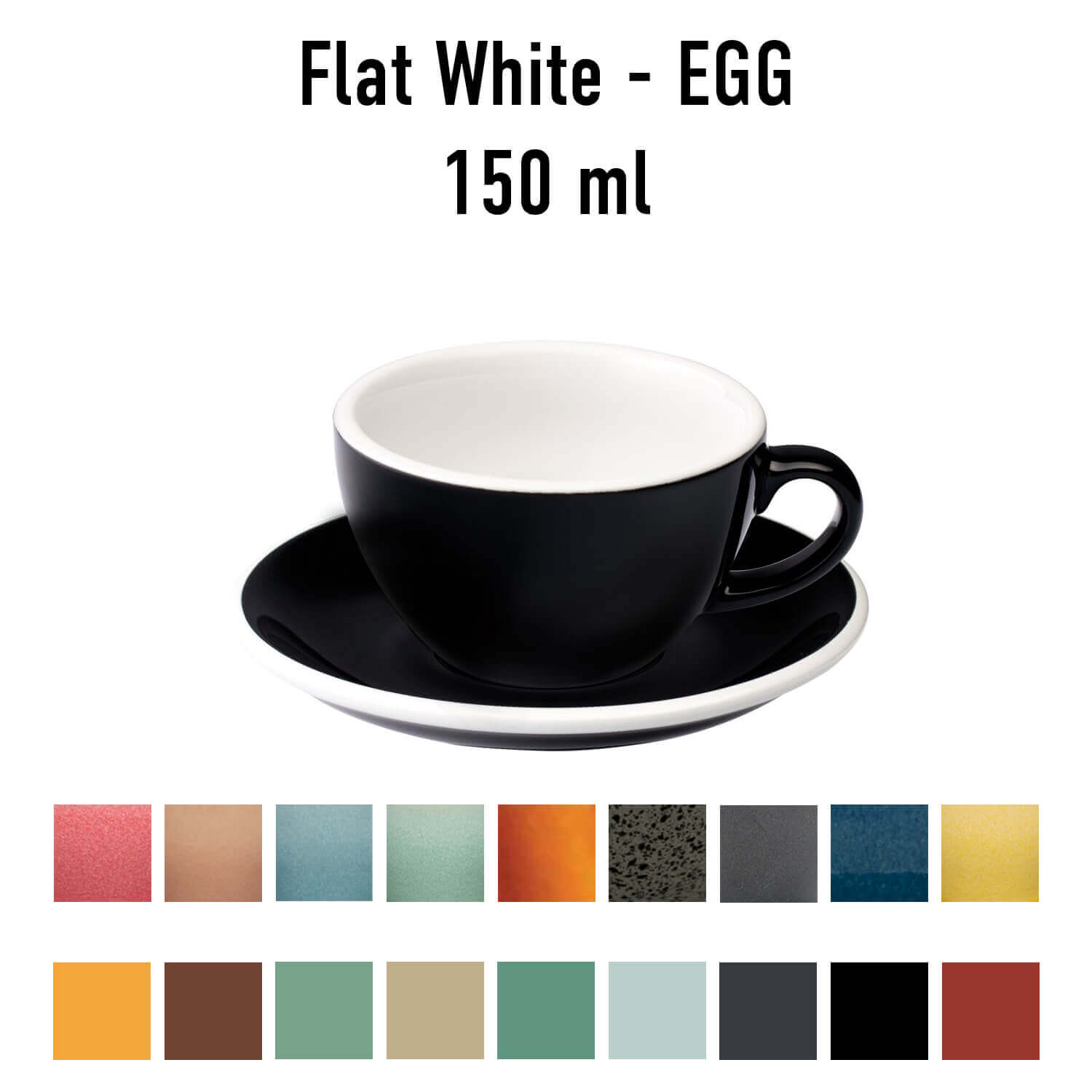 Loveramics - Egg - Flat white cup