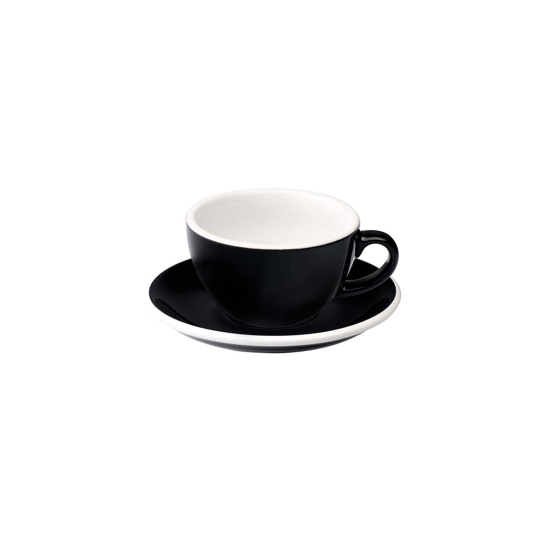 Loveramics - Egg - Cappuccino Set - Zwart