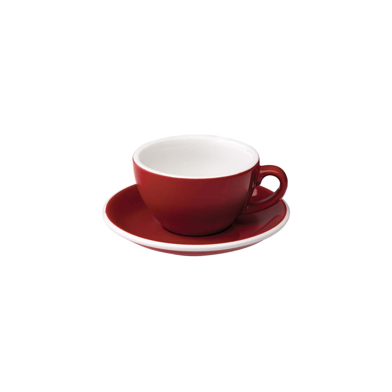 Loveramics – Egg – Cappuccino Kop- &Amp; Schotelset - Rood