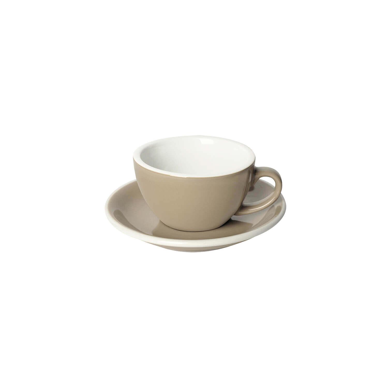 Loveramics – Egg – Cappuccino Kop- &Amp; Schotelset - Taupe