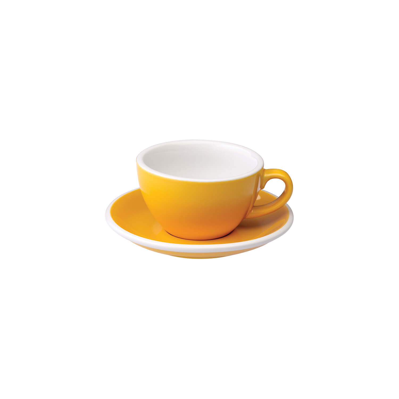 Loveramics – Egg – Cappuccino Kop- &Amp; Schotelset - Geel