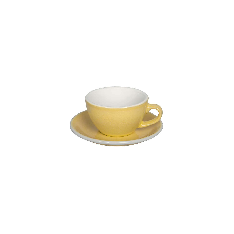 Loveramics – Egg – Cappuccino Kop- &Amp; Schotelset - Butter Cup