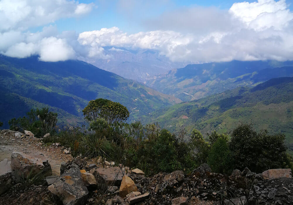 El Plato - Uitzicht Vally