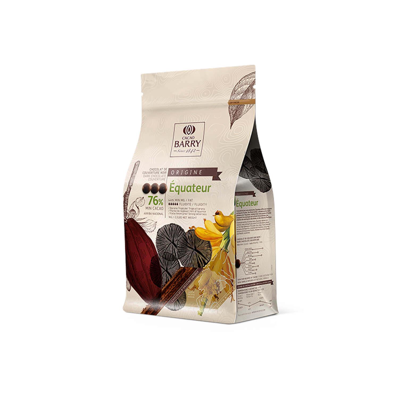 Cacao Barry - Callets - origine Equateur 76% - 1 kg