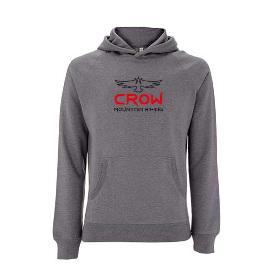 V2 Light Grey Hoodie - Red Text