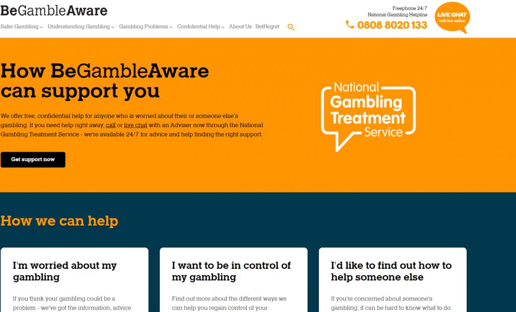 BeGambleAware practice responsible gambling