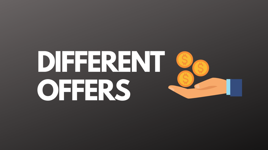 Different Offers With Bonuses
