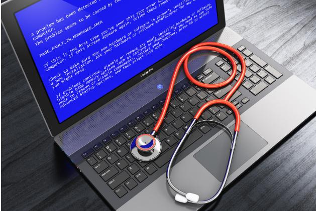 Laptop blauw scherm CTHB