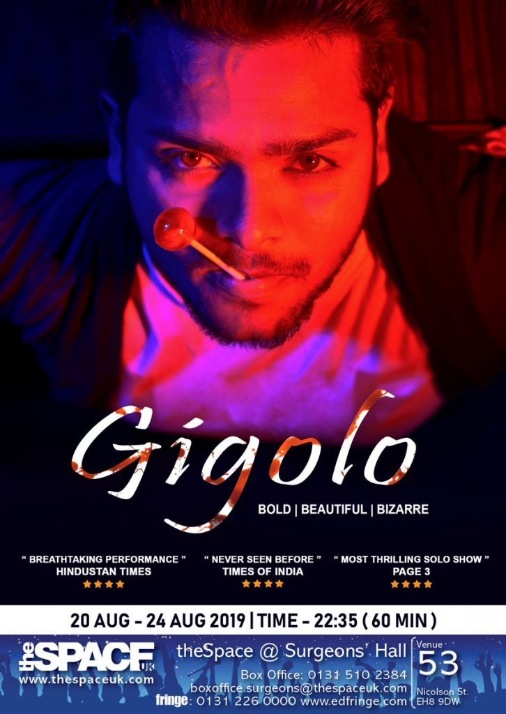 EdFringe 2019: Gigolo: Bold, Beautiful, Bizarre