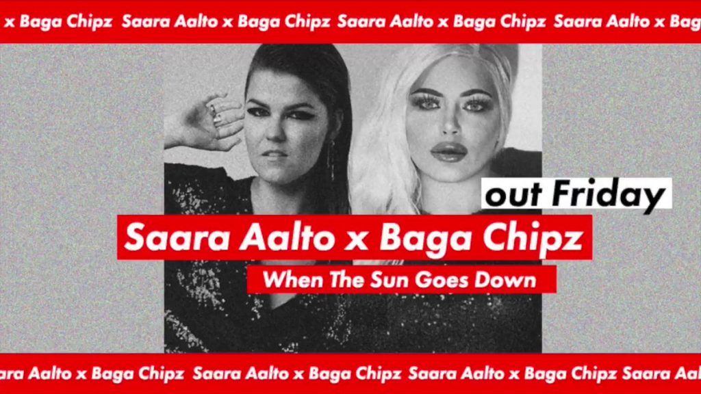 Icons Unite on Saara Aalto & Baga Chipz's New Song 'When the Sun Goes Down'