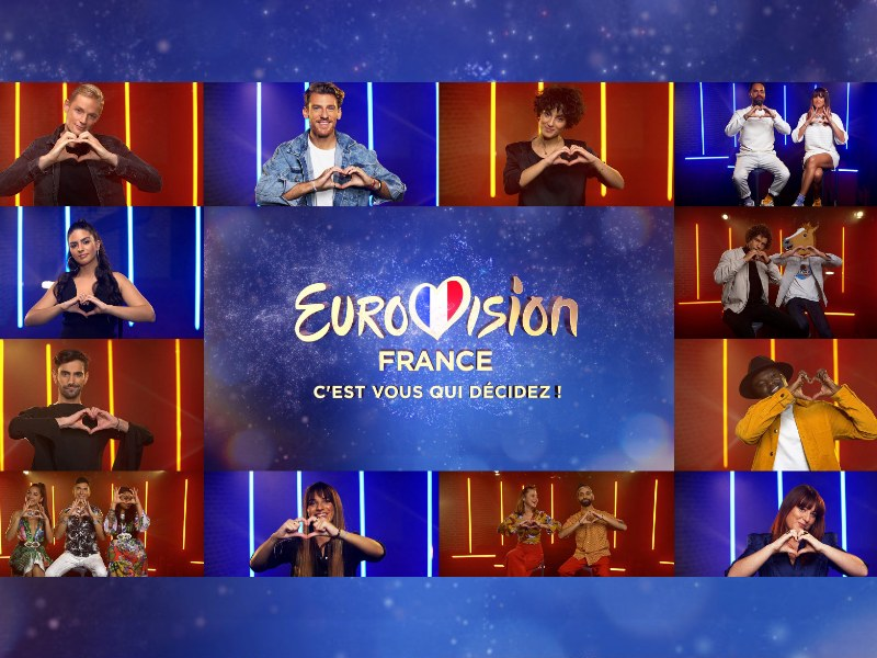 Eurovision France: 'C'est vous qui décidez!' Reveals  12 Acts and Songs for National Selection