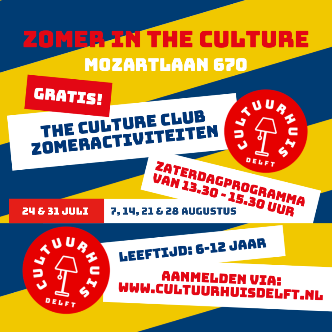 The culture Club zomeractiviteiten