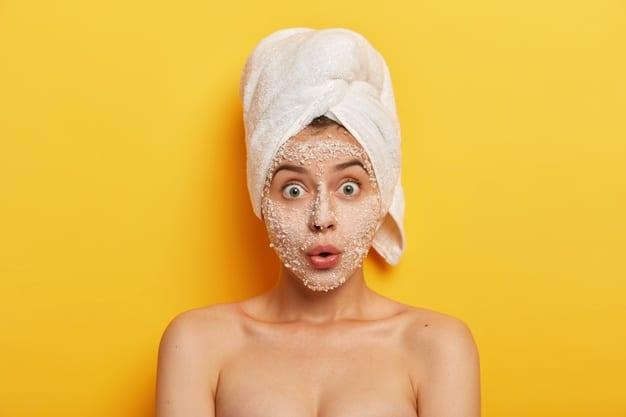 DIY Glowing skin face mask