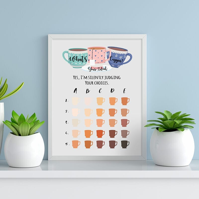 What's Your Ideal Cuppa A3 Print