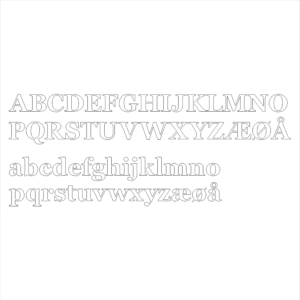 Bogstaver_font