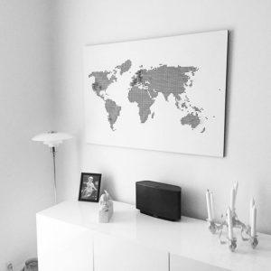 PYW verdenskort hvid