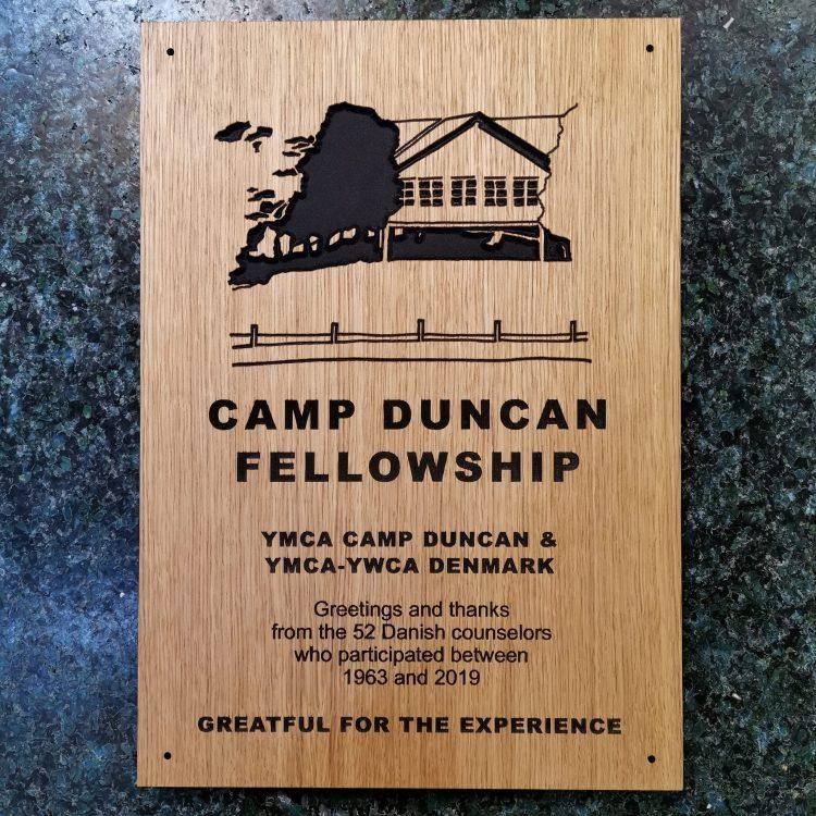 Camp Duncan mindeplade