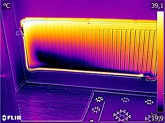 Verstopping radiator