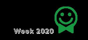 Customer service week 2020 logo white
