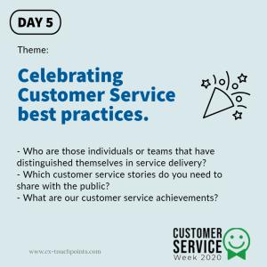 Celebrate best practices
