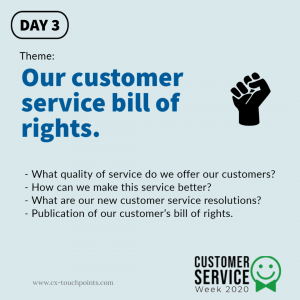 Customer service bill of rights