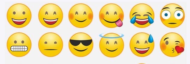 Emojis kan være OK