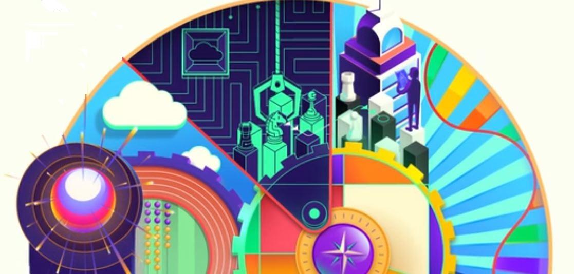 En af Tech Trends 2020 rapporten illustrationer. Copyright Deloitte.