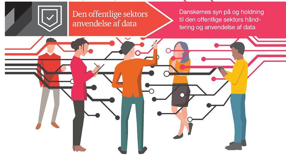 Danskerne er klar til yderligere digitalisering. Illustration fra CXO Magasinets artikel om undersøgelsen