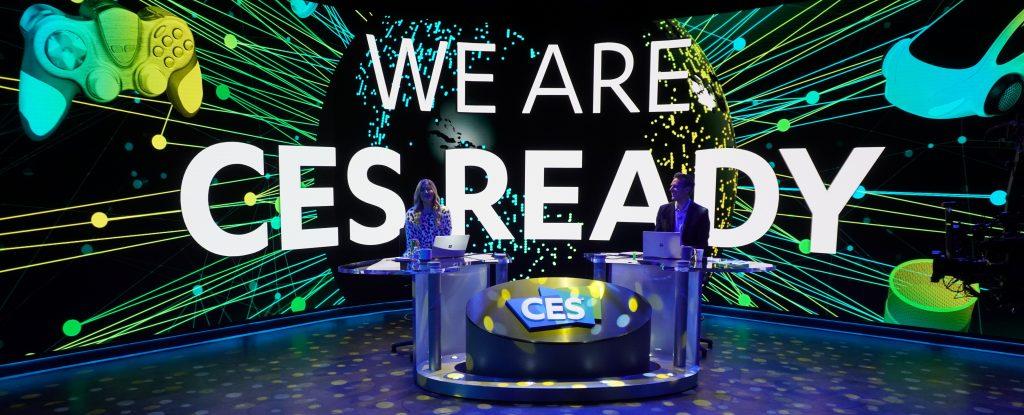Nyeste teknologi  CES pressefoto. Teknologimessen CES 2021