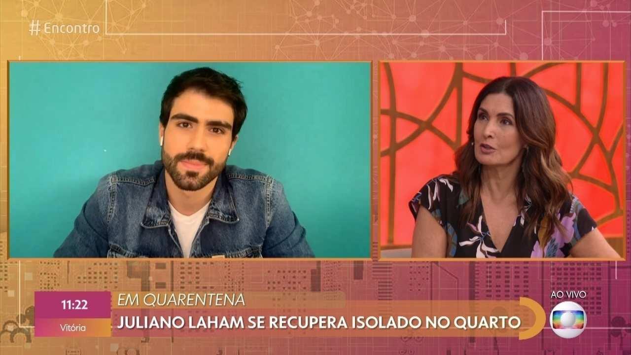 Juliano Laham no Encontro com Fátima Bernardes