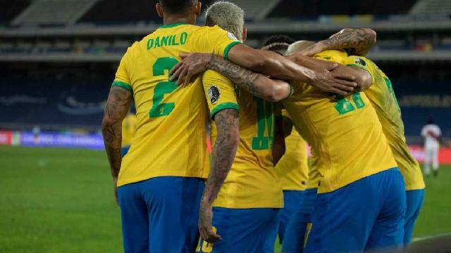 Jogadores do Brasil x Argentina pela Copa América Lucas Figueiredo-CBF