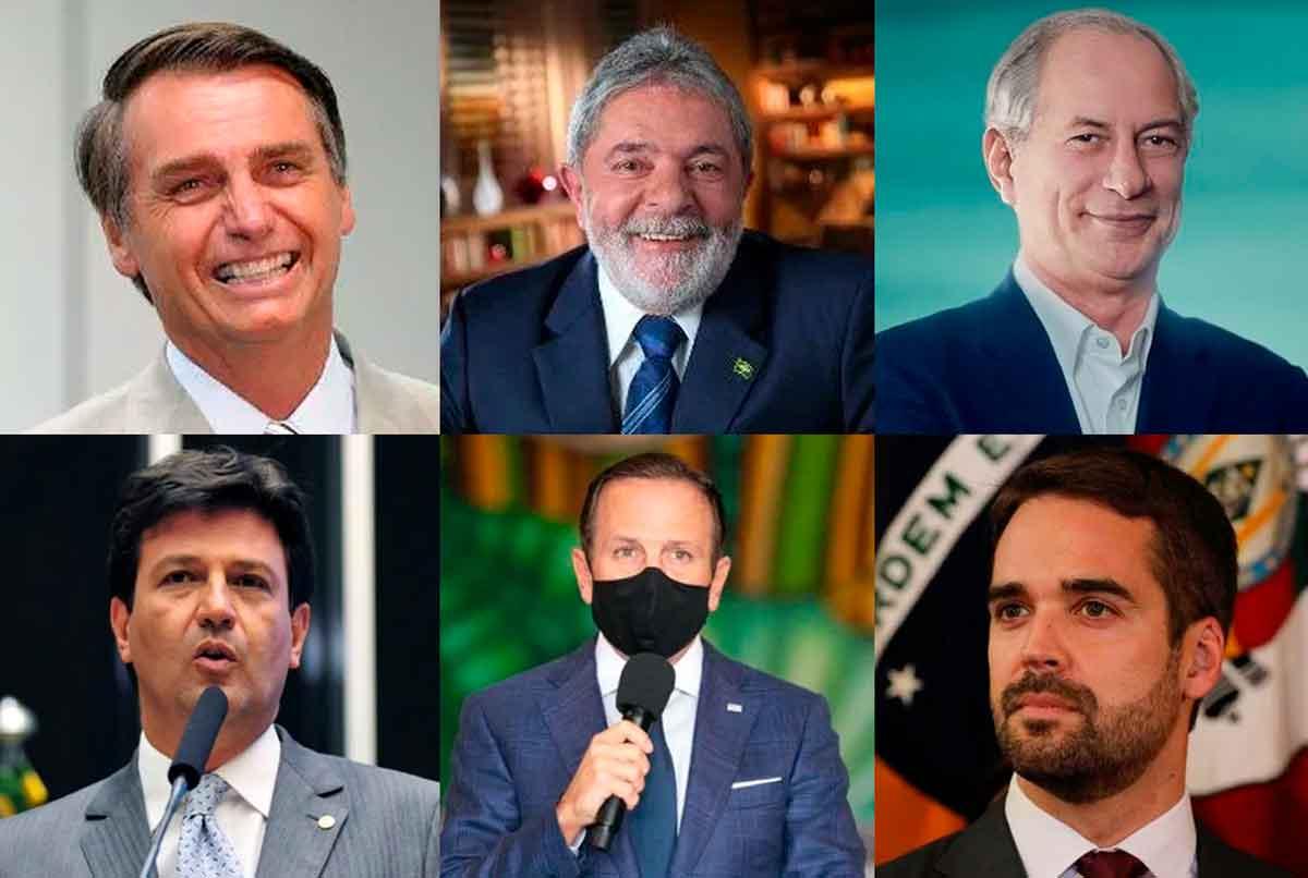 Eleições 2022: Bolsonaro, Ciro Gomes, Eduardo Leite, João Doria, José Luiz Datena, Lula, Luiz Henrique Mandetta
