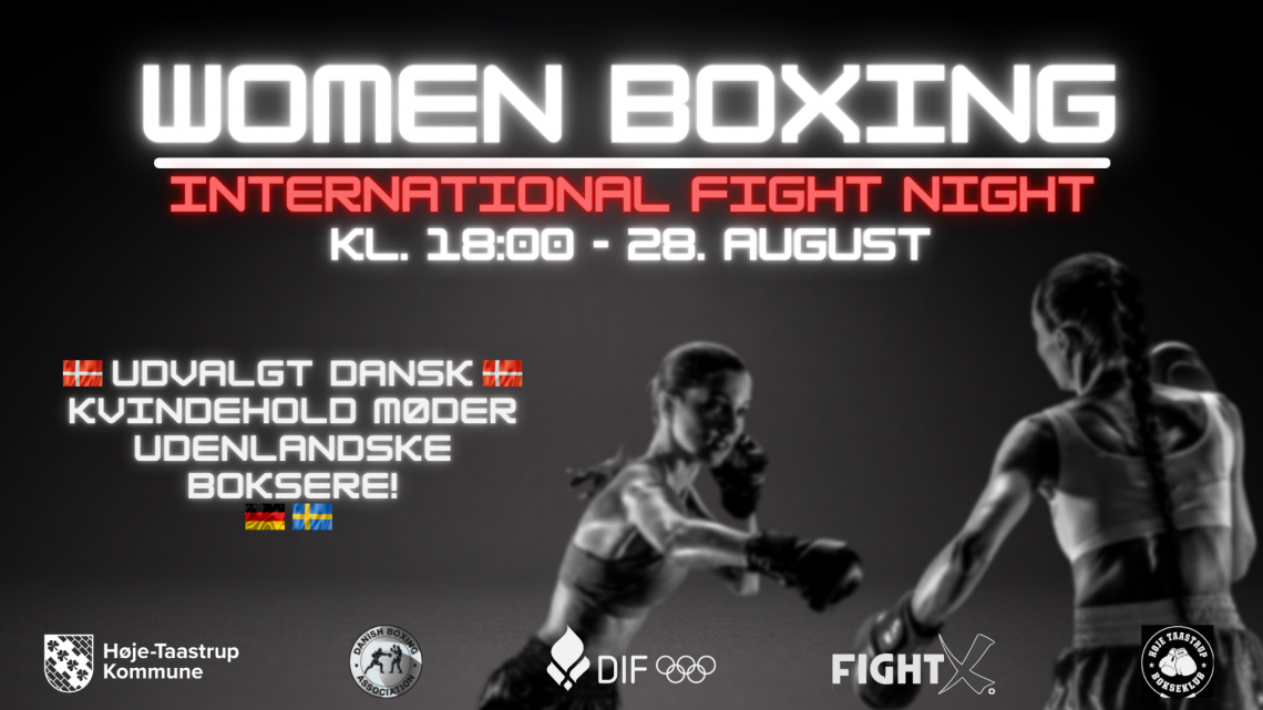 WOMEN BOXING – International Fight Night den 28/8 2021