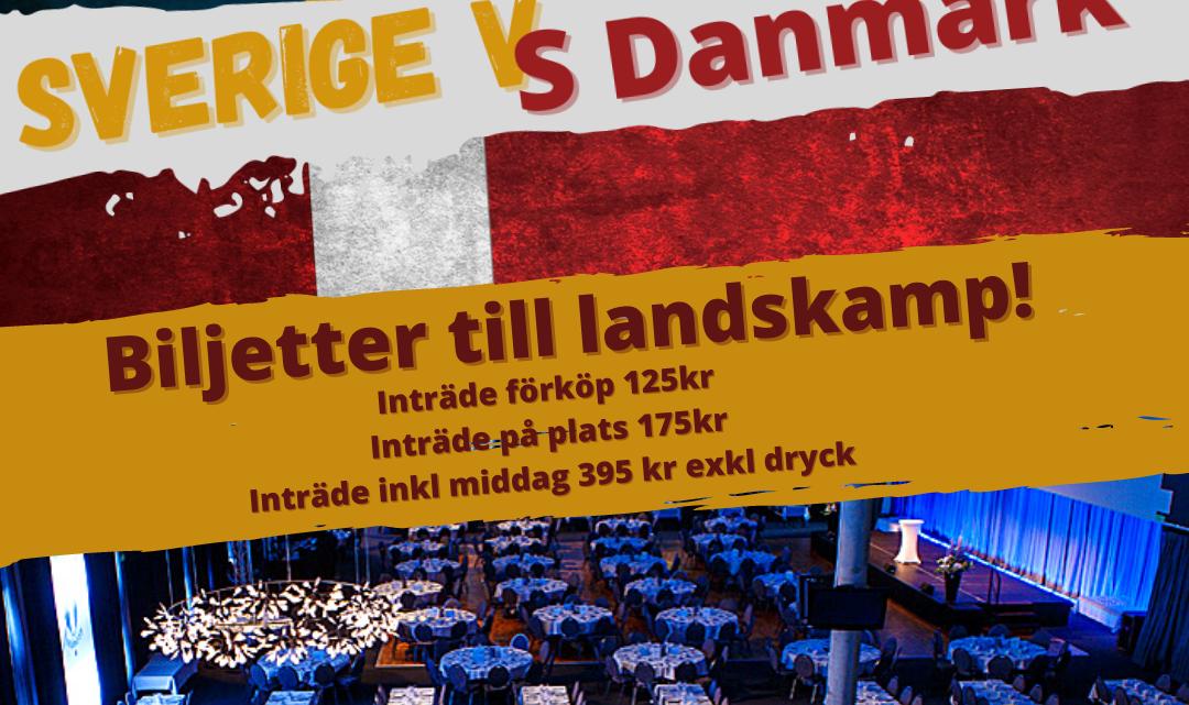 Udtagelse til landskamp mod Sverige 9. oktober