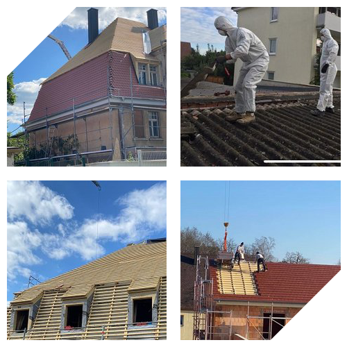 Collage von Dächern