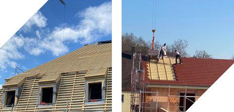 Sarnierung von zwei Dächern
