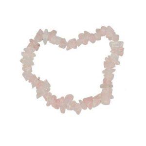 Rozekwarts kinderarmbandje split 13 cm