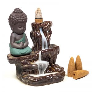 Backflow waterval wierookbrander Kleine boeddha