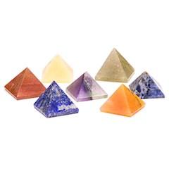 Edelstenen SET 7 chakra piramide stenen