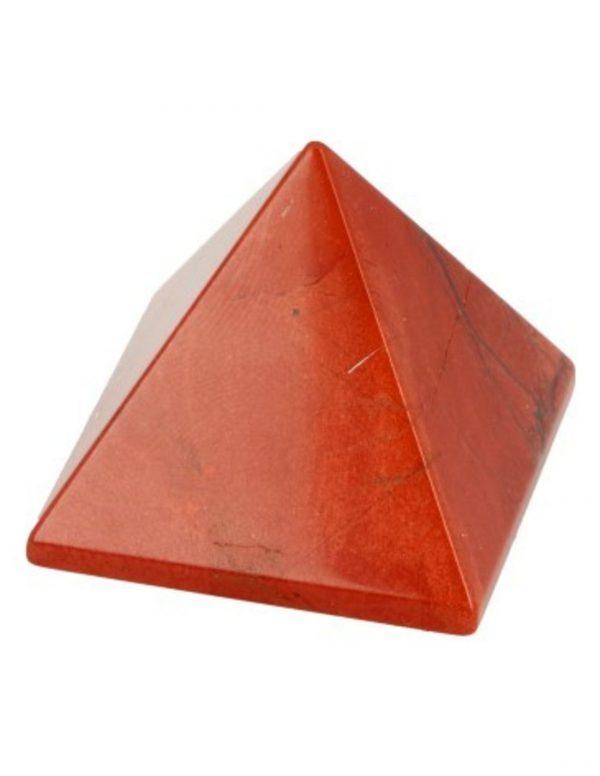 rode jaspis piramide