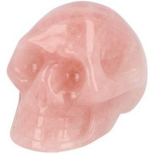 Roze kwarts schedel klein