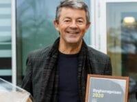 Jacob Steen Møller modtager bygherreprisen, foto: Bygherreforeningen