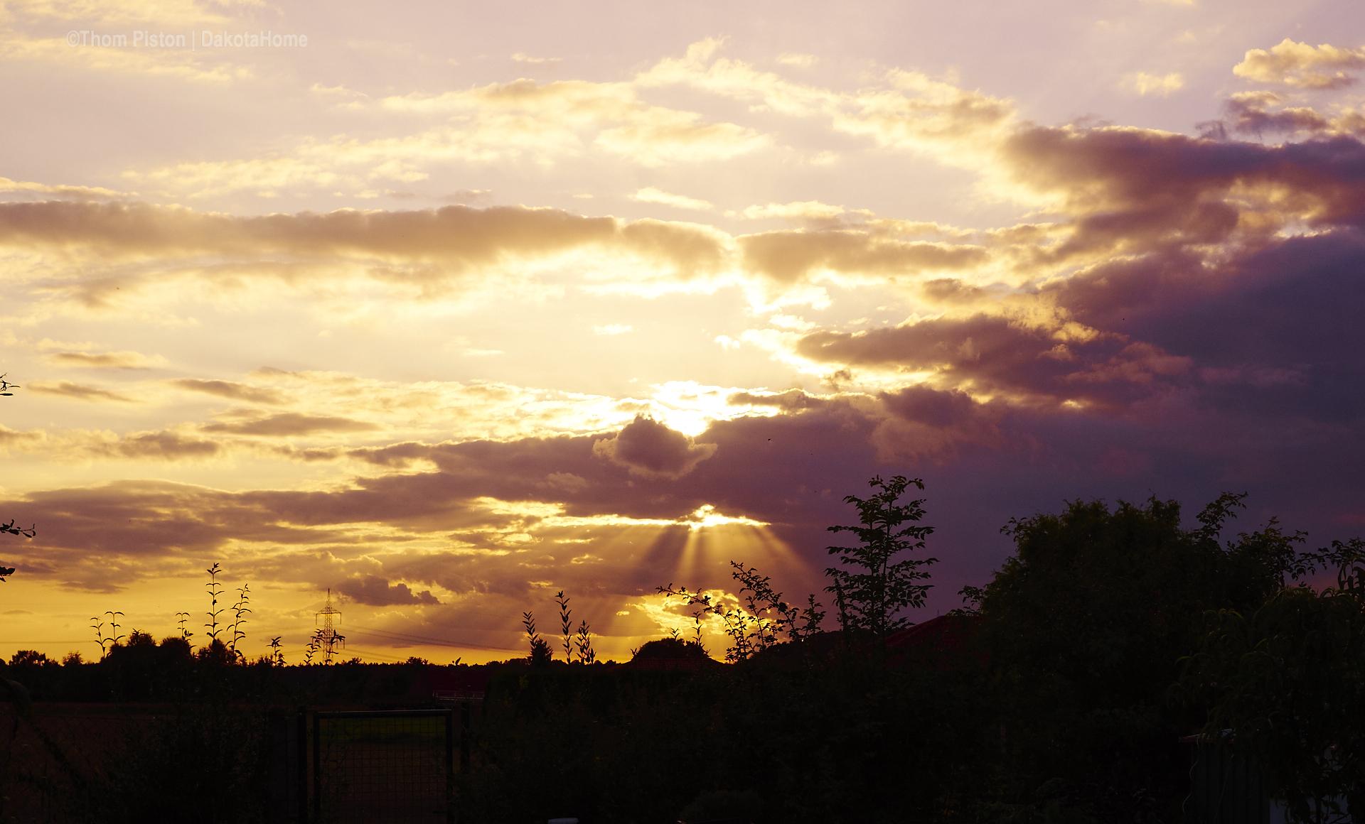 Sonnenuntergang Dakota Home