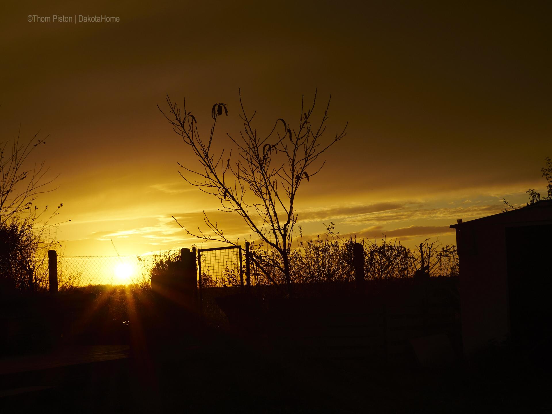 Sonnenuntergang Dakota Home ende November 2017