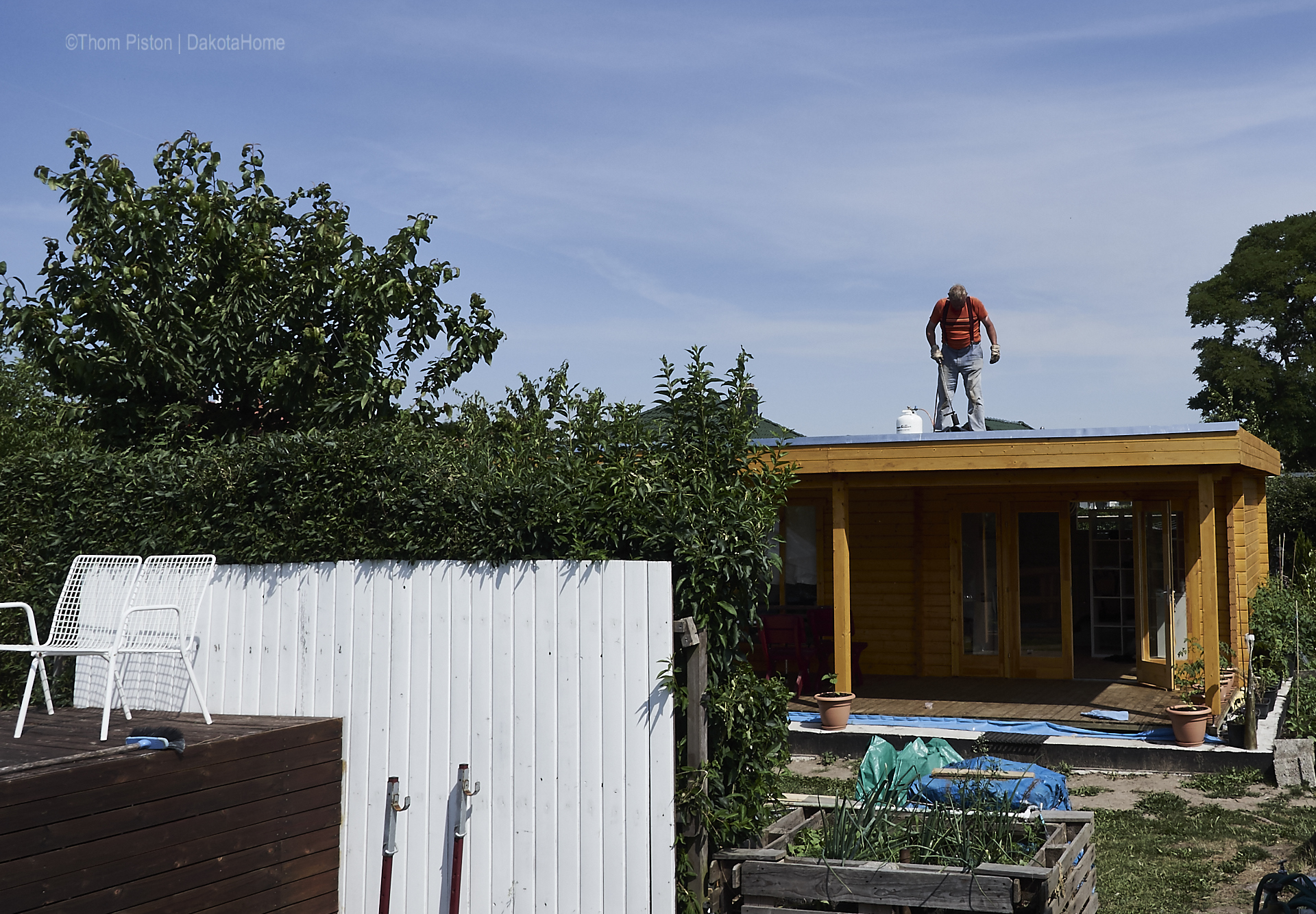 letzte dachdeckarbeiten mit den schweissbahnen
