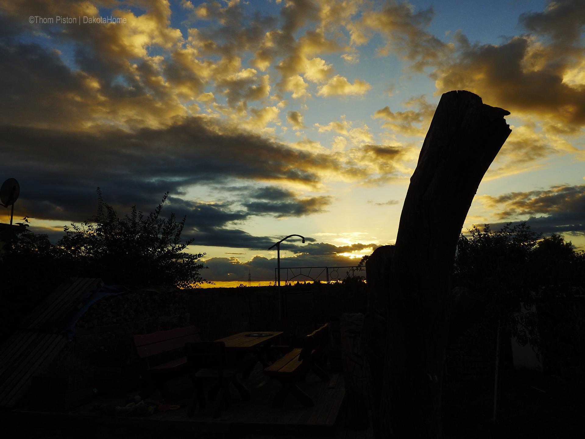 Sonnenuntergänge im Herbst am Dakota Home