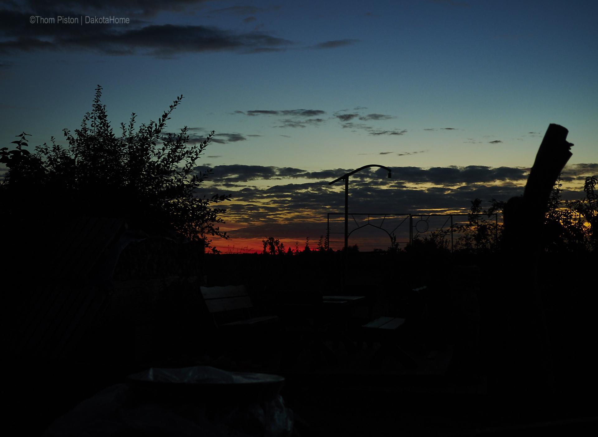 Sonnenuntergang at Dakota Home , mitte September 2018